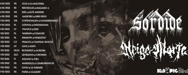 Sordide and Neige Morte on tour in Europe this winter.